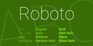 cursive font download roboto font big
