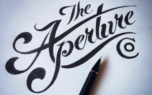 cursive writing fonts the aperture co handwritten logo