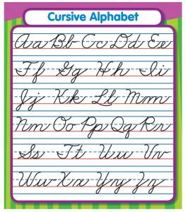 cursive writing fonts cursive alphabet