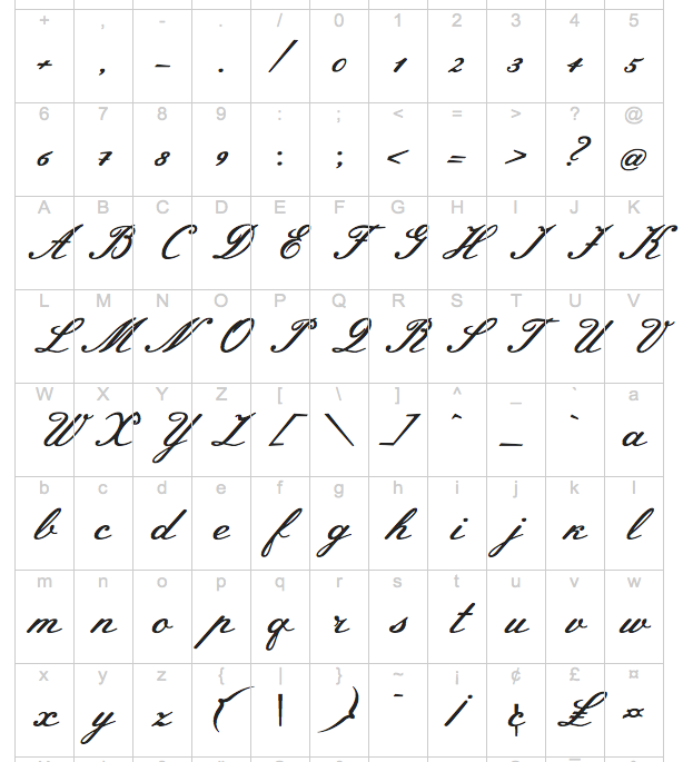 cursive writing fonts
