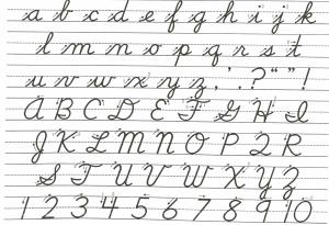 cursive writing template cursive