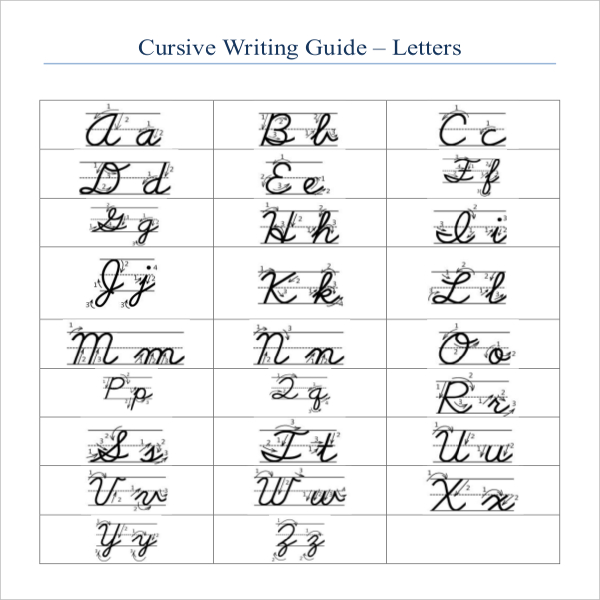 image relating to Printable Cursive Letter Stencils identify Cursive Producing Template Template Organization