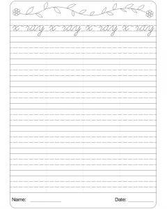 cursive writing worksheets pdf x