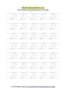 cursive writing worksheets pdf d writing cursive letters