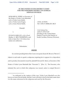 custody agreement template georgia order denying quash subpoena of s brown