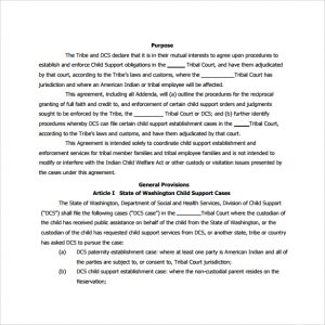 custody agreement templates child support agreement to print