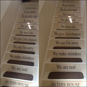 custom e mail signatures custom stairs quote in this house rules your design wall sticker transfer decal