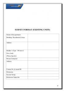 customer survey template summer internship project on home loans