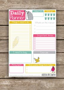 cute daily planner cute daily agenda template daily planner sample
