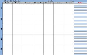 cute daily planner weekly calendar with time slots template