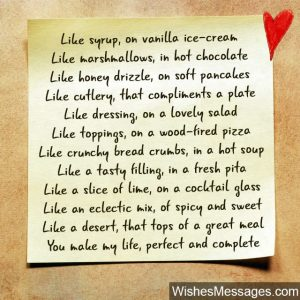cute love letters for boyfriend romantic poem about food hot chocolate ice cream spicy sweet x