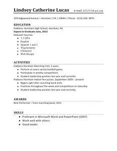 cv high school first job resume sample part time job objective resumes resume first job resume
