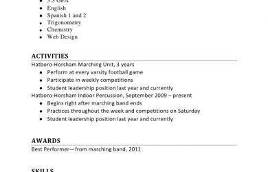 cv high school first job resume sample part time job objective resumes resume first job resume