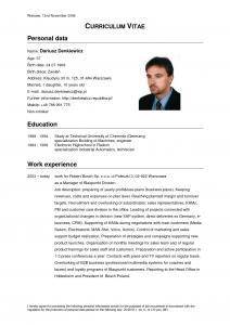 cv template download curriculum vitae
