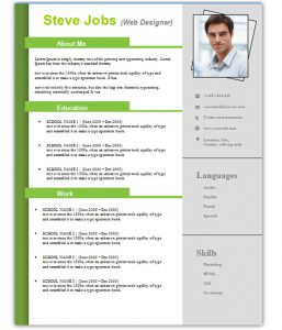 cv template download steve resume template word