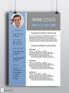 cv template download thumbnail cv pierre english ls