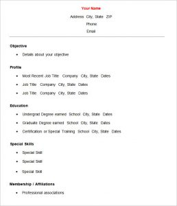 Cv Template Pdf Basic Resume Template Free Samples Examples Format Free  Simple Resume Templates