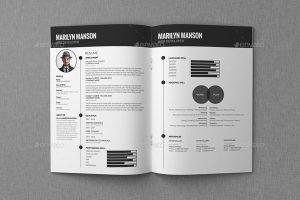 cv template pdf resume cv portfolio