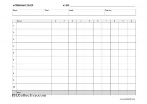 daily attendance sheet full attendance sheet template
