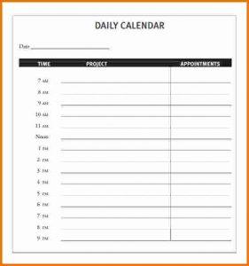 daily calendar template daily calendar template daily appointment calendar template