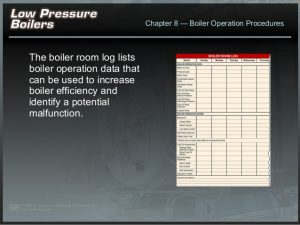 daily log sheet low pressure boiler startup procedure