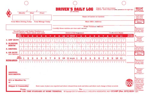 driver logs template