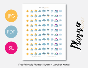 daily planner printable pdf weather kawaii presentation x
