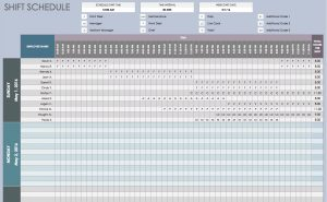 daily planner template excel free daily schedule templates for excel