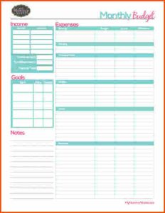daily planner templates household budget form