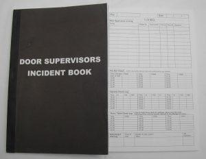 daily report template door supervisor incident book full