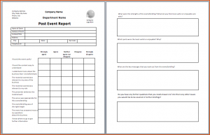 daily report template event template post event report template