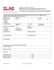 daily report template maintenance report form stanford l