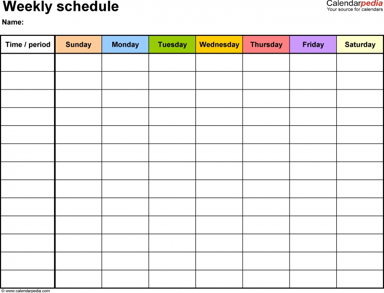 Daily Schedule Template Word  Template Business