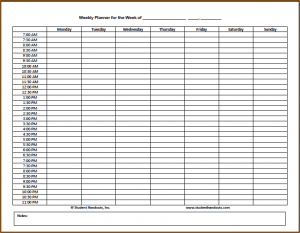 daily task list template template business