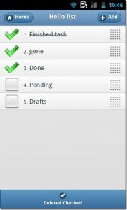 daily task list template lists notes android checkable