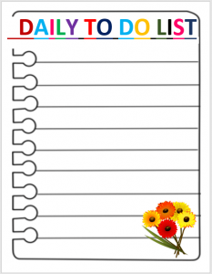 daily todo list template daily to do list template