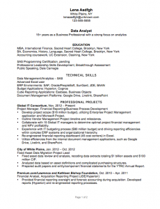 data analyst resume chronological resume sample data analyst csusanireland 1