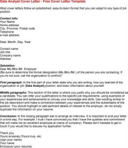 data analyst resume entry level general cover letter for job fair