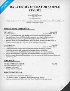 data entry resume data entry resume