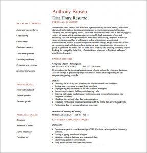 data entry resume data entry resume pdf free download