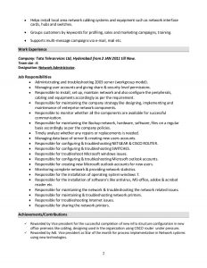 database administrator resume system administrator resume format