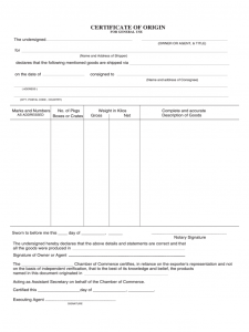 death certificate template blank certificate of origin form certificate of origin template