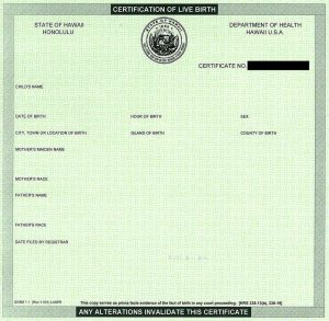 death certificate template hawaiian birth certificate blank
