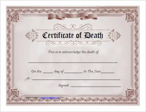 death certificates templates death certificate template free download pdf