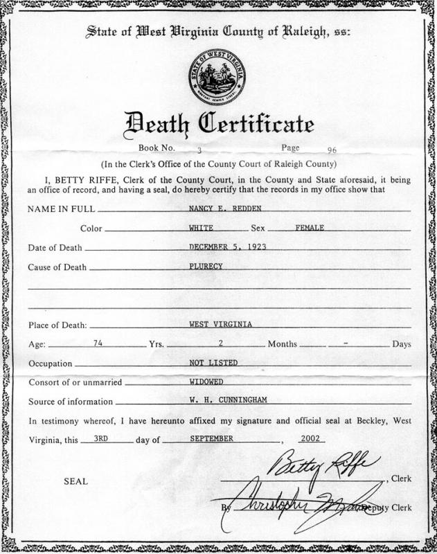 death certificates templates