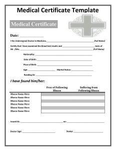 death certificates templates medical certificate template
