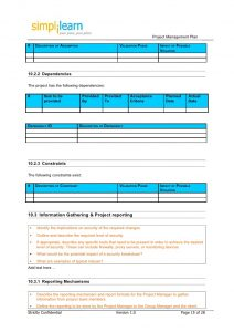 delivery receipt template project management plan template