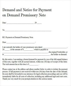 demand for payment letter formal demand for payment letter