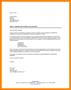 demand for payment letter template demand letter for payment