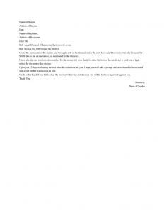 demand letter for money owed demand letter